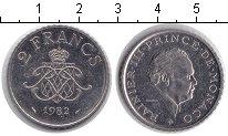 Изображение Мелочь Монако 2 франка 1981 Медно-никель XF