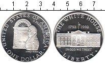 Изображение Монеты США 1 доллар 1992 Серебро Proof- Белый дом