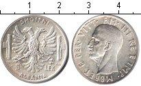 Изображение Мелочь Албания 5 лек 1939 Серебро XF Витторио Эммануил II