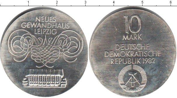 Картинка Монеты ГДР 10 марок Серебро 1982