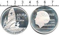 Изображение Монеты Аруба 25 флоринов 1992 Серебро Proof- Олимпиада-1992 в Бар