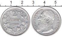 Изображение Мелочь Бельгия 2 франка 1909 Серебро XF