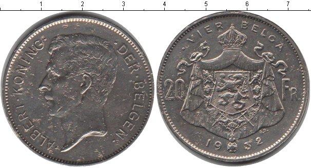 Картинка Монеты Бельгия 20 франков Медно-никель 1932