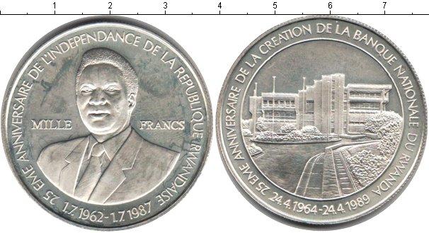Картинка Монеты Руанда 1.000 франков Серебро 1989