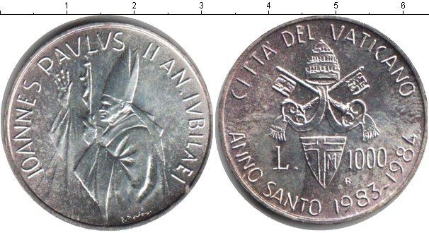 Картинка Монеты Ватикан 1.000 лир Серебро 1984