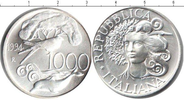 Картинка Монеты Италия 1.000 лир Серебро 1994