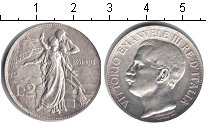 Изображение Монеты Италия 2 лиры 1911 Серебро XF 50 лет Королевству И