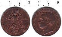 Изображение Монеты Италия 10 сентесим 1911 Медь XF 50-летие королевства