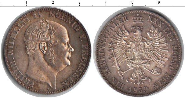 Картинка Монеты Пруссия 1 талер Серебро 1859