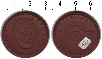 Изображение Монеты Германия 1 марка 1921 Керамика UNC- Айзенах. Мартин Люте