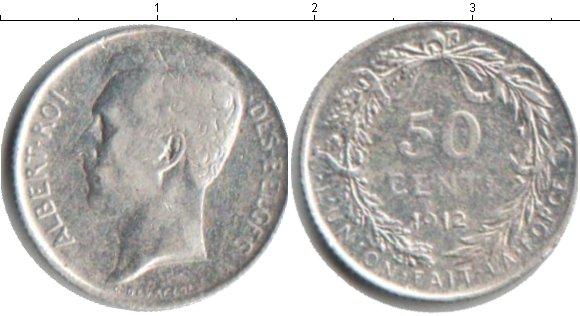 Картинка Монеты Бельгия 50 сантимов Серебро 1912