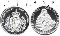 Изображение Монеты Сан-Марино 10000 лир 2000 Серебро Proof 1700-летие Сан-Марин