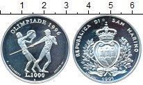 Изображение Монеты Сан-Марино 1000 лир 1995 Серебро Proof- Олимпиада-1996 в Атл