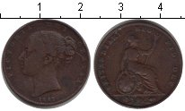 Изображение Монеты Великобритания 1 фартинг 1847 Медь XF Виктория