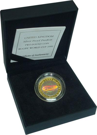 Изображение Подарочные монеты Великобритания 2 фунта 1999 Серебро Proof Подарочная монета но