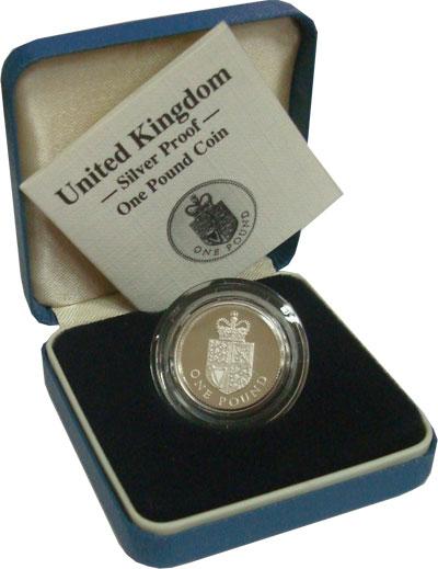 Изображение Монеты Великобритания 1 фунт 1988 Серебро Proof Подарочный набор сос