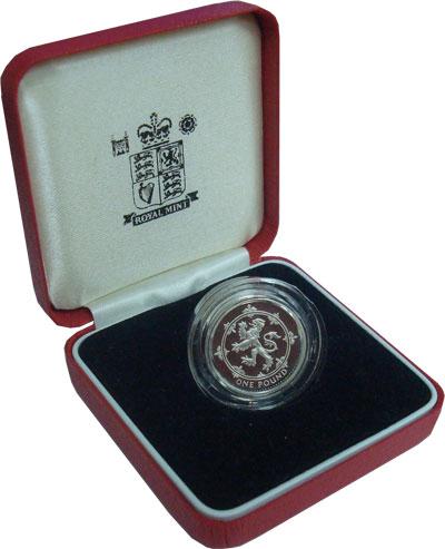 Изображение Подарочные монеты Великобритания 1 фунт 1994 Серебро Proof Подарочный набор сос