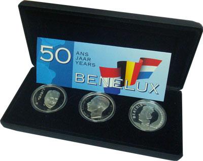 Изображение Подарочные наборы Бельгия Бенелюкс 1994 Серебро Proof Подарочный набор, со