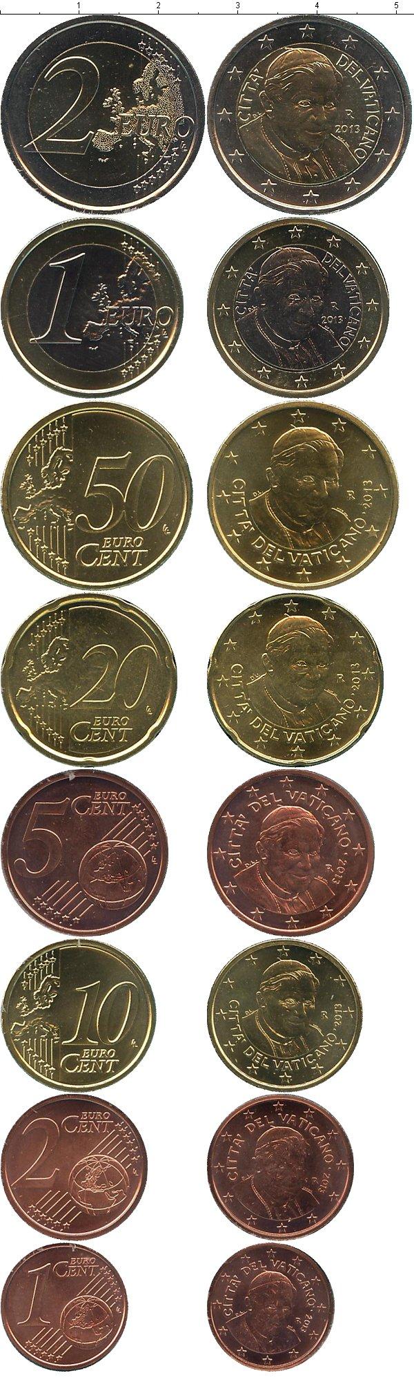 Картинка Подарочные монеты Ватикан Евронабор 2013  2013