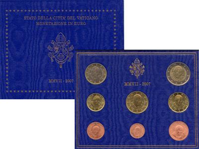 Изображение Подарочные монеты Ватикан Евронабор 2007 2007  UNC- Подарочный набор 200