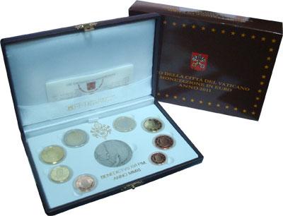 Изображение Подарочные монеты Ватикан Евронабор 2011 года 2011