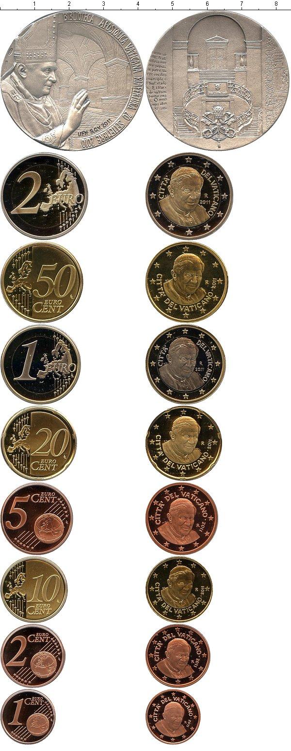 Картинка Подарочные монеты Ватикан Евронабор 2011 года  2011