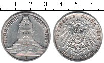 Изображение Монеты Саксония 3 марки 1913 Серебро  100-летие битвы под