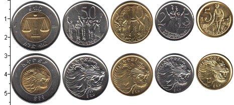 Изображение Наборы монет Эфиопия Эфиопия 1977 0  UNC В наборе 5 монет ном