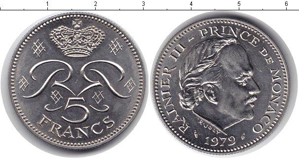 Картинка Мелочь Монако 5 франков Медно-никель 1971