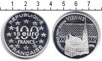 Изображение Монеты Франция 100 франков 1996 Серебро Proof- Кафедральный собор С