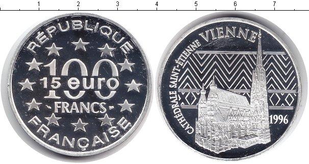 Картинка Монеты Франция 100 франков Серебро 1996