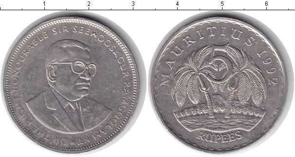 Картинка Монеты Маврикий 5 рупий Медно-никель 1992