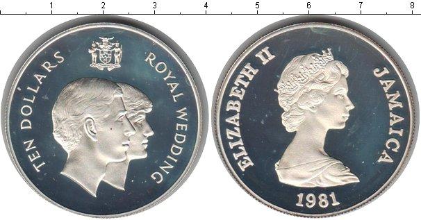Картинка Монеты Ямайка 10 долларов Серебро 1981