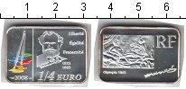 Изображение Мелочь Франция 1/4 евро 2008 Серебро Proof- Эдвард Мане