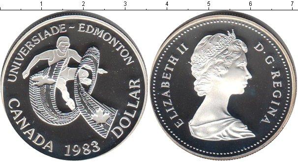 Картинка Мелочь Канада 1 доллар Серебро 1983