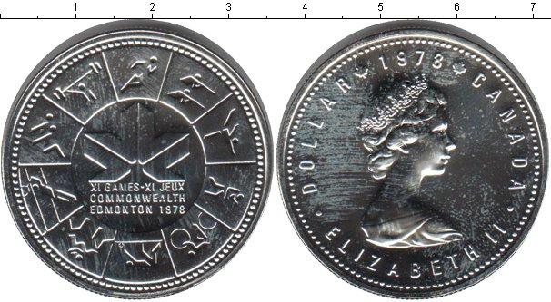 Картинка Монеты Канада 1 доллар Серебро 1978