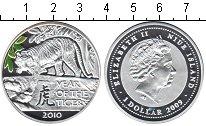 Изображение Монеты Ниуэ 1 доллар 2010 Серебро Proof- Год тигра