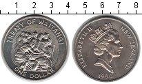 Изображение Мелочь Новая Зеландия 1 доллар 1990 Медно-никель UNC- Елизавета II.  Ежего