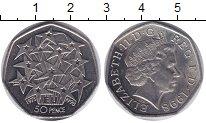 Изображение Мелочь Великобритания 50 пенсов 1998 Медно-никель XF Елизавета II. 25-ая