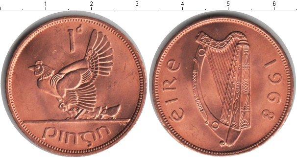 Картинка Мелочь Ирландия 1 пенни Медь 1968