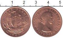 Изображение Мелочь Великобритания 1/2 пенни 1967 Медь XF+ Елизавета II