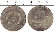 Изображение Мелочь ГДР 20 марок 1972 Медно-никель XF Шиллер