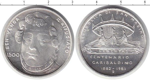 Картинка Монеты Сан-Марино 500 лир Серебро 1982