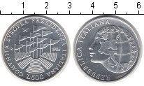 Изображение Монеты Италия 500 лир 1985 Серебро UNC 1-е президентство Ит