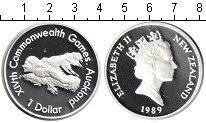 Изображение Монеты Новая Зеландия 1 доллар 1989 Серебро Proof