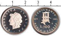 Изображение Монеты Италия 100 лир 1993 Серебро Proof-