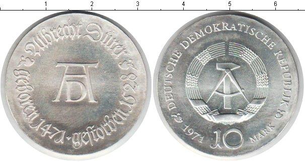 Картинка Монеты ГДР 10 марок Серебро 1971