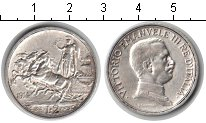Изображение Монеты Италия 2 лиры 1914 Серебро XF Виктор Эмануэль III
