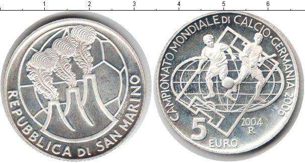 Картинка Монеты Сан-Марино 5 евро Серебро 2004