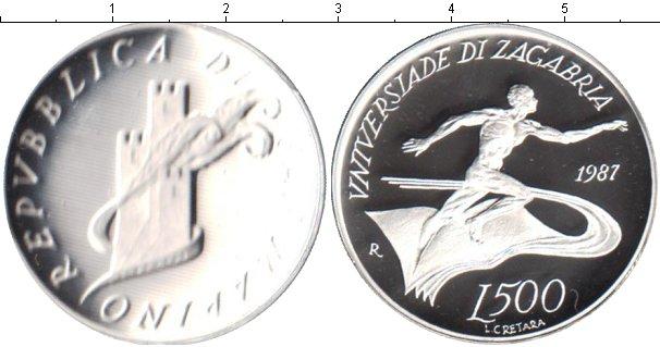 Картинка Монеты Сан-Марино 500 лир Серебро 1987